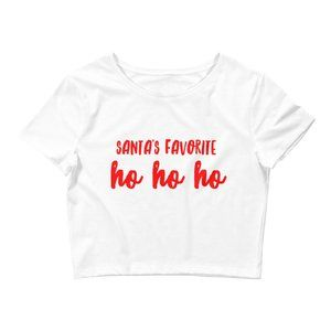 Funny Christmas Holiday Crop Top Ladies M/L